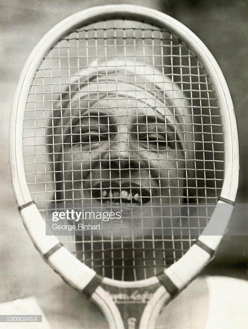 Suzanne Lenglen Looking Through Her Racquet : News Photo
