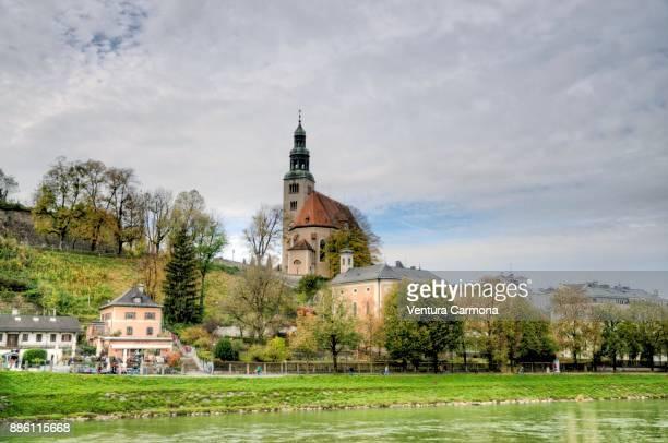 "mülln church (""müllner kirche"") - salzburg, austria - kirche stock pictures, royalty-free photos & images"