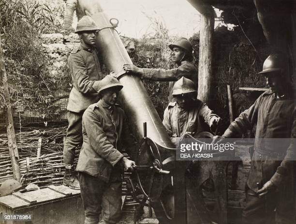 A 240 mm Italian trench mortar World War I Italy 20th century