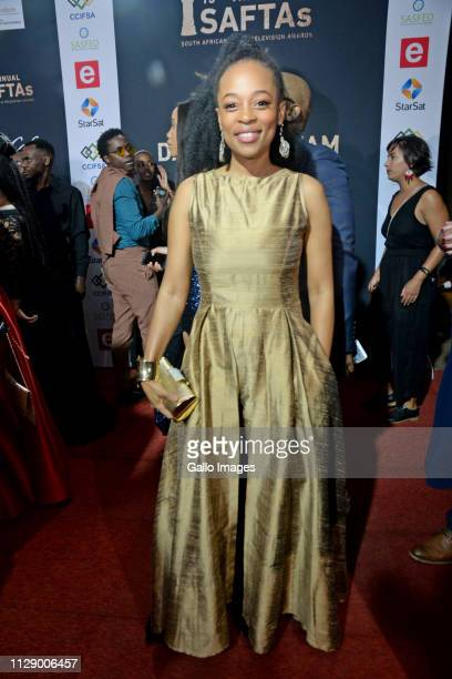 Mmabatho Montsho during the 13th annual South African Film and Television Awards at the Sun City Superbowl on March 02 2019 in Rustenburg South...