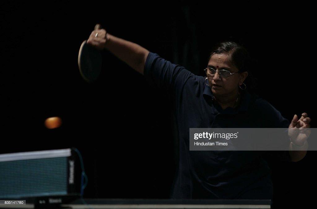 M.Mahadevan plays inner club & inner office Table Tennis competition at Santacurz Gymkhana on Friday.