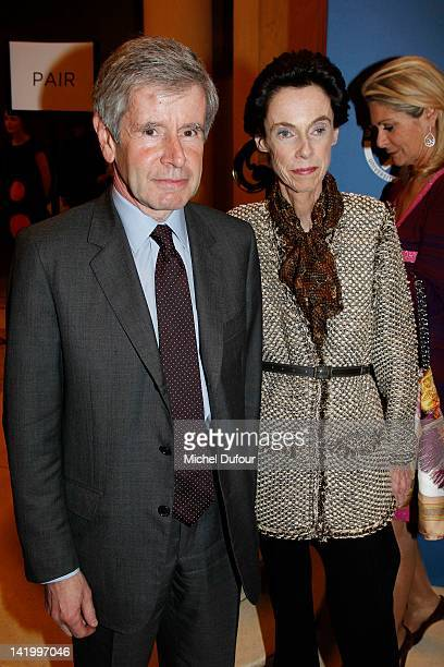 MMe Alain Minc attends the Scopus Awards 2012 at Theatre des ChampsElysees on March 27 2012 in Paris France