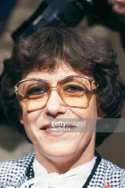 Mme Albert Spaggiari lors de l'emission 'Les dossiers de l'écran' le 26 février 1980 à Paris France