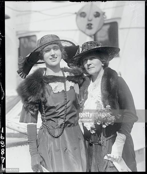 Mme Gadski Tauscher with daughter on the S S Resolute