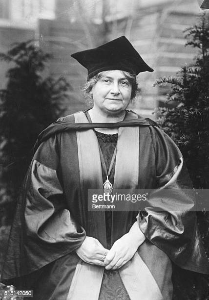 Mme Maria Montessori noted woman educator who has been granted an Honorary Degree as Doctor Honoris Causa by the University of Durham in Holland This...