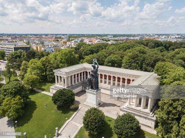 münchen bavaria mit ruhmeshalle - theresienwiese stock pictures, royalty-free photos & images