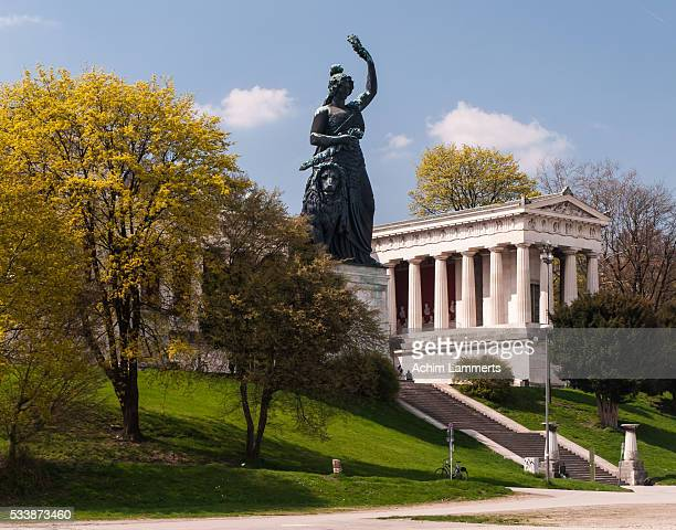 münchen - bavaria statue - wiesn - achim lammerts stock pictures, royalty-free photos & images