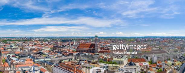 münchen panorama - bayern stock pictures, royalty-free photos & images
