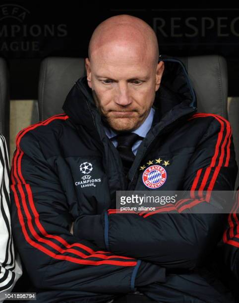 Münchens Sportdirektor Matthias Sammer prior the UEFA Champions League Group D soccer match between FC Bayern Munich and CSKA Moscow at München Arena...