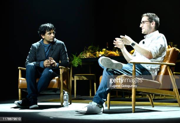 MNight Shymalan speaks at Servant Panel during New York Comic Con at Hammerstein Ballroom on October 03 2019 in New York City