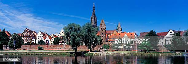 münster church and danube river - ulm stock pictures, royalty-free photos & images