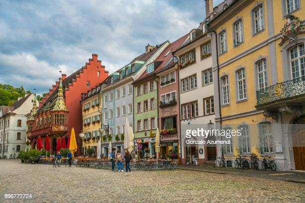 münster platz in freiburg germany - north rhine westphalia stock pictures, royalty-free photos & images