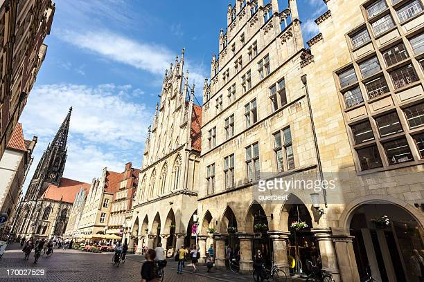münster - prinzipalmarkt, germany - north rhine westphalia stock pictures, royalty-free photos & images