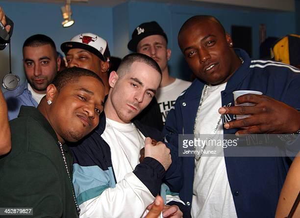 Mo Alchemist and Flame during Alchemist Album Realease Party and Concert September 22 2004 at SOB in New York City New York United States