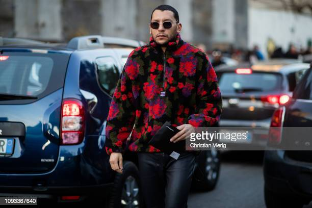 Mo Anwar is seen outside Marni during Milan Menswear Fashion Week Autumn/Winter 2019/20 on January 12 2019 in Milan Italy