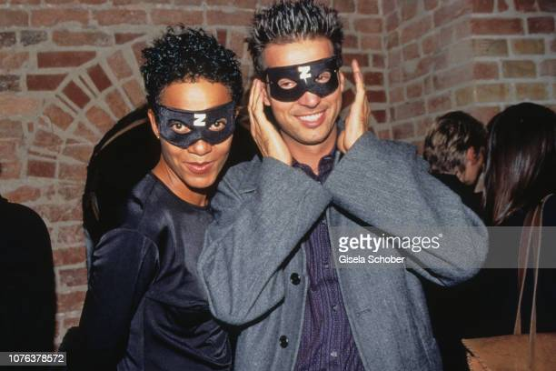 Mo Asumang and Andreas Türck attend the 'Zoro' Premiere in September 1999 in Berlin Germany