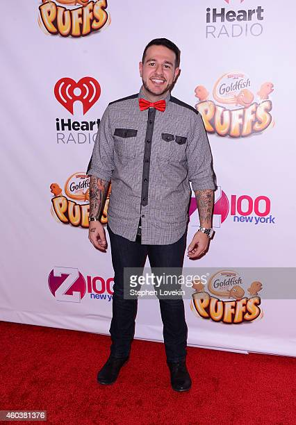 Mo' Bounce attends iHeartRadio Jingle Ball 2014 hosted by Z100 New York and presented by Goldfish Puffs at Madison Square Garden on December 12 2014...