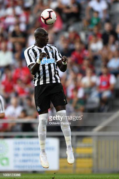 Mo Diame of Newcastle during the Preseason friendly between SC Braga and Newcastle on August 1 2018 in Braga Portugal