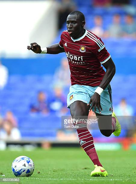 Mo Diame of West Ham United in action during the preseason friendly match between Ipswich Town and West Ham United at Portman Road on July 16 2014 in...