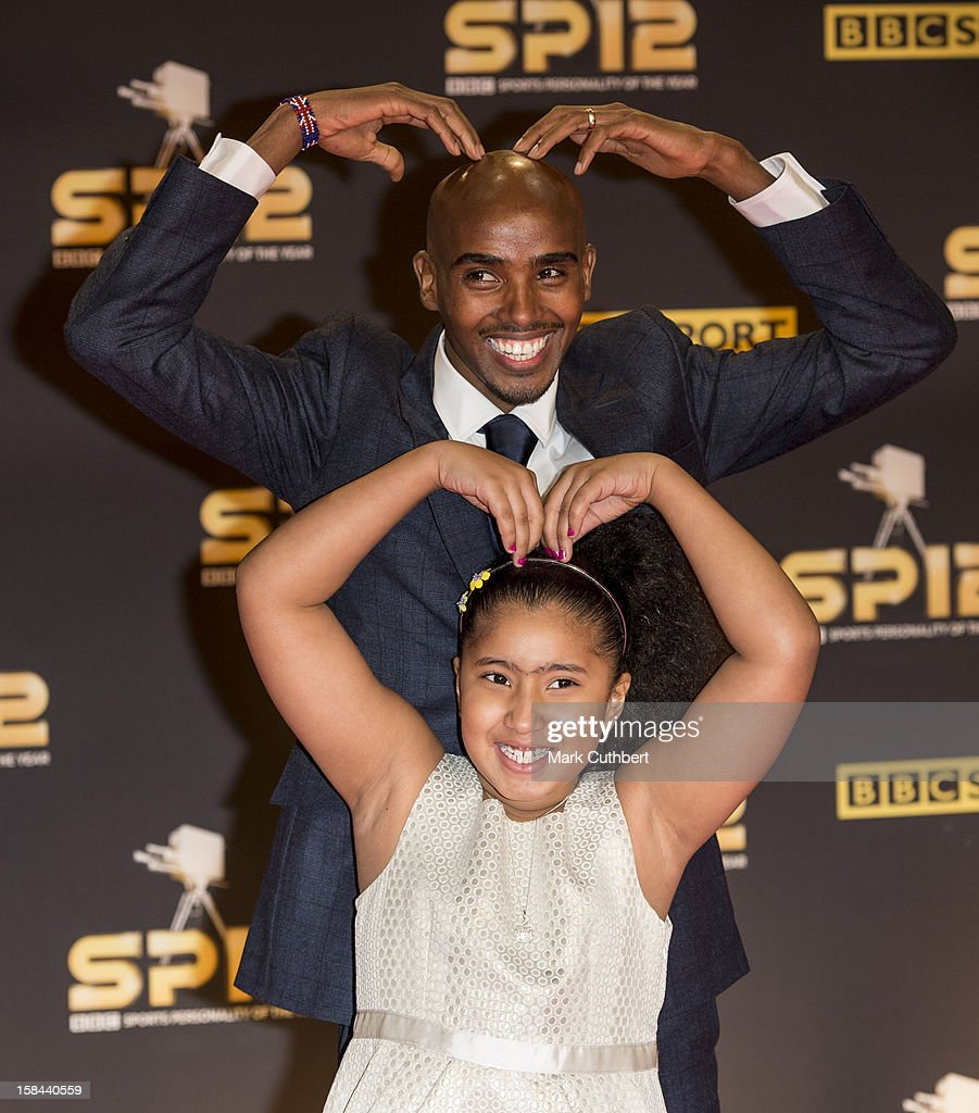 Mo Farah and Rihanna Farah attend the BBC Sports Personality Of The Year Awards at ExCel on December 16, 2012 in London, England.