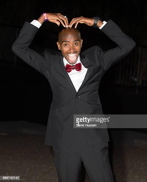 Mo Farah arrives for GQ Men Of The Year Awards 2016 at Tate Modern on September 6 2016 in London England