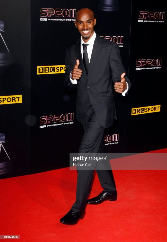 Mo Farah attends the awards ceremony for BBC Sports Personality of the Year 2011 at Media City UK on December 22, 2011 in Manchester, England.
