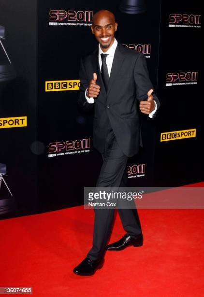 Mo Farah attends the awards ceremony for BBC Sports Personality of the Year 2011 at Media City UK on December 22 2011 in Manchester England