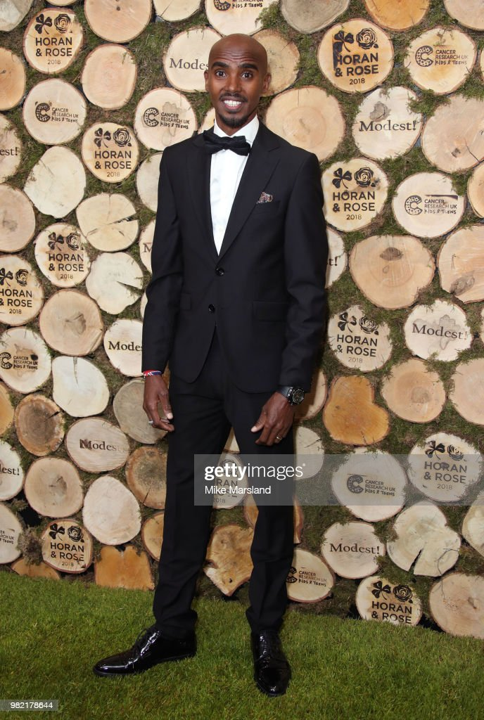 Mo Farah attends the Horan And Rose Charity Event held at The Grove on June 23, 2018 in Watford, England.