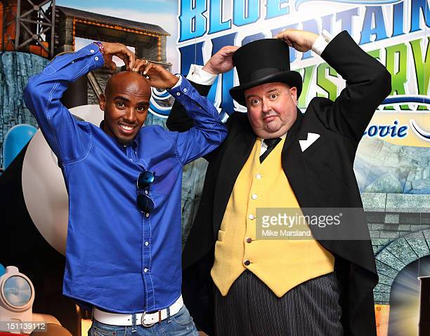 Mo Farah attends the premiere of Thomas & Friends: Blue Mountain Mystery at Vue Leicester Square on September 1, 2012 in London, England.