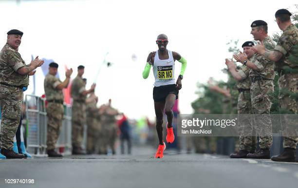 Mo Farah wins the Elite Men's Race during The Great North Run on September 9 2018 in Newcastle upon Tyne England