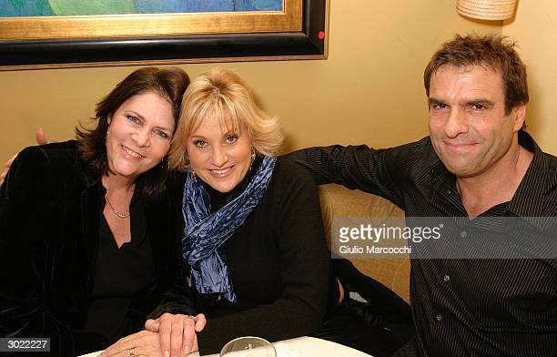 Mo Gaffney Lorna Luft and Colin Freeman attend an afterparty for Kathy and Mo's greatest hits February 27 2004 at Nic's Martini Bar Grill in Beverly...