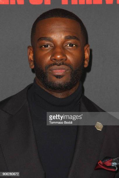 Mo McRae attends the Premiere Of STX Films' 'Den Of Thieves' at Regal LA Live Stadium 14 on January 17 2018 in Los Angeles California