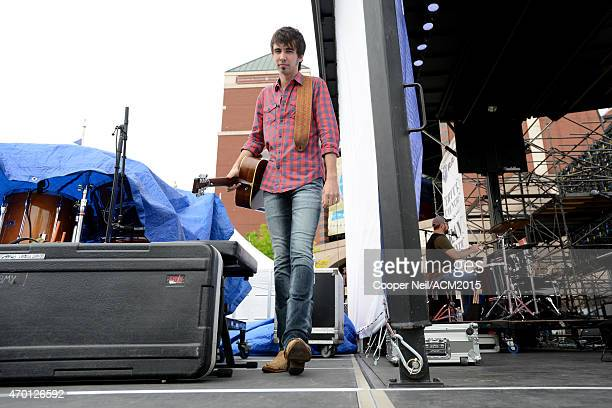 Mo Pitney performs onstage during the ACM Party For A Cause Festival at Globe Life Park in Arlington on April 17 2015 in Arlington Texas