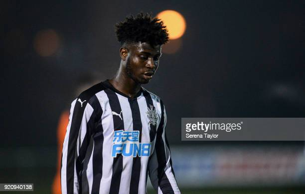 Mo Sangare of Newcastle United during the Premier League 2 match between Newcastle United and Southampton at Whitley Park on February 19 in Newcastle...