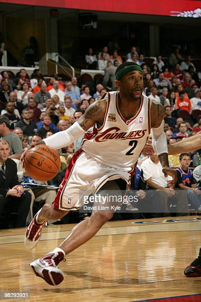 Mo Williams of the Cleveland Cavaliers drives to the basket against the Toronto Raptors on April 6, 2010 at The Quicken Loans Arena in Cleveland,...