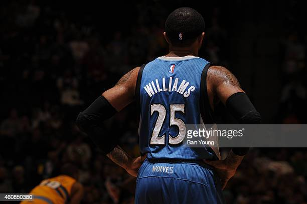 Mo Williams of the Minnesota Timberwolves during the game against the Denver Nuggets on December 26 2014 at the Pepsi Center in Denver Colorado NOTE...