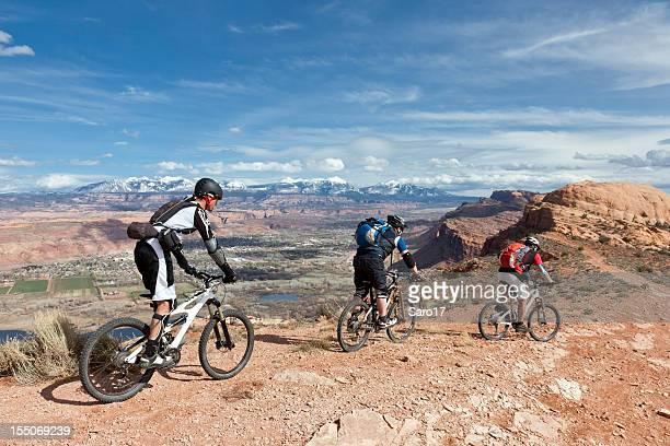 moab scenic biking, utah - moab utah stock photos and pictures