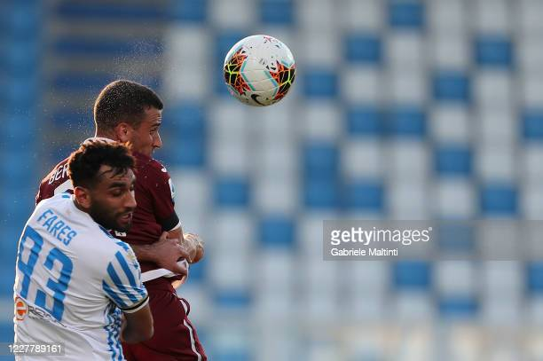 Moahamed Fares of SPAL battles for the ball with Alejandro Berenguer of Torino FC during the Serie A match between SPAL and Torino FC at Stadio Paolo...