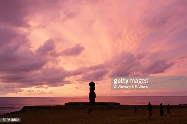 Moai at Ahu Ko Te Riku