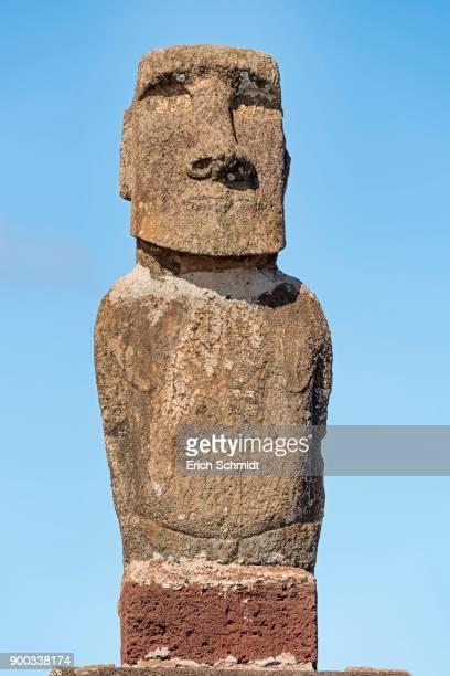 Moai in the Ahu Tahai Complex, Hanga Roa, National Park Rapa Nui, Easter Island, Easter Island, Chile