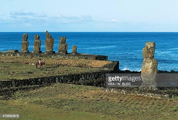 Moai of Ahu Tahai Rapa Nui National Park Easter Island Chile Polynesian Civilisation