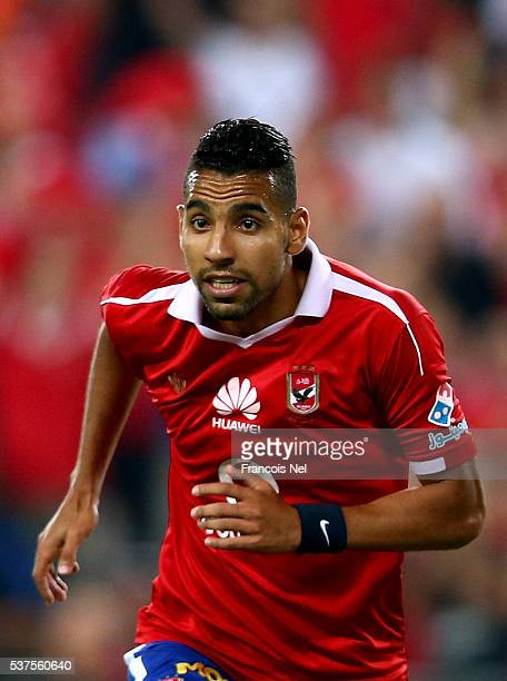 Moamen Zakaria Abbas of Al Ahly in action during the friendly match between Al Ahly and AS Roma on May 20 2016 in Al Ain United Arab Emirates