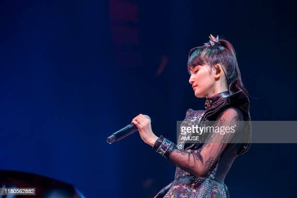 Moametal of BABYMETAL perform during the 'METAL GALAXY WORLD TOUR LIVE' at The Forum on October 11 2019 in Inglewood California