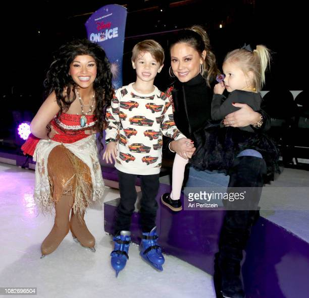 Moana Camden Lachey Vanessa Lachey and Brooklyn Lachey attend Disney On Ice Presents Dare to Dream Celebrity Skating Party at Staples Center on...