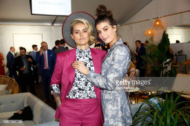 Moana Hope and Isabella Carlstrom attends 2018 Caulfield Cup Day at Caulfield Racecourse on October 20 2018 in Melbourne Australia