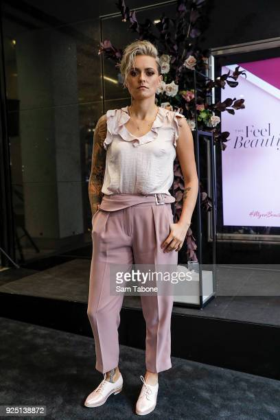 Moana Hope attends the Myer Beauty Campaign Launch Beauty Brunch on February 28 2018 in Melbourne Australia