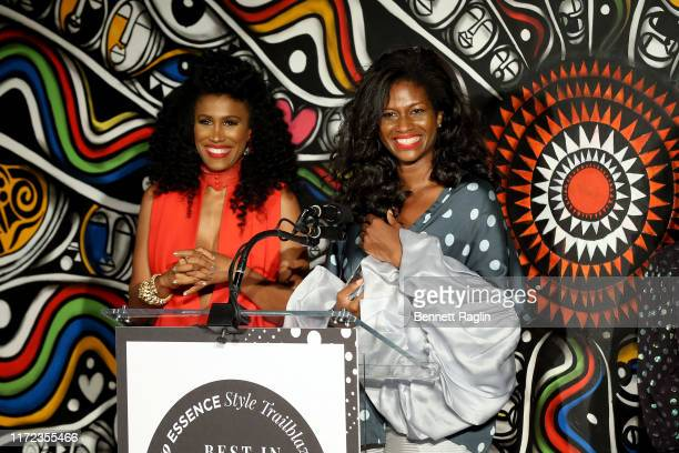 Moana Luu and Fe Noel speak during the ESSENCE Best In Black Fashion Awards at Affirmation Arts on September 04 2019 in New York City