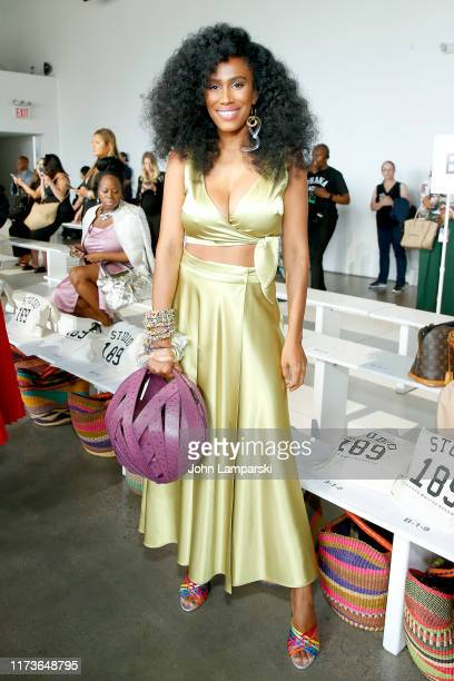Moana Luu attends the front row for Studio 189 during New York Fashion Week The Shows at Gallery I at Spring Studios on September 10 2019 in New York...