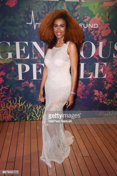 Moana Luu attends the Generous People 5th Anniversary Party during the 70th annual Cannes Film Festival at Martinez Pier on May 24 2017 in Cannes...
