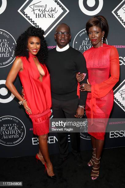 Moana Luu Omar Salam and Bozoma Saint John attend the ESSENCE Best In Black Fashion Awards at Affirmation Arts on September 04 2019 in New York City